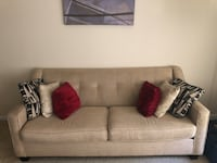 gray fabric 2-seat sofa 43 km
