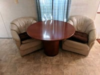 round brown wooden coffee table Melbourne, 32934