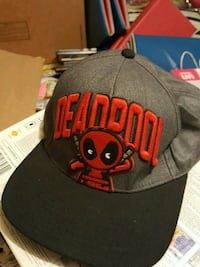 Deadpool snapback gray, black & red