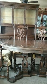 brown wooden dining table set Manassas, 20110