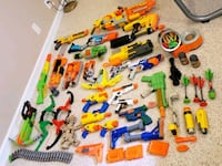 Nerf guns collection w/ammo and accessories  Laurel, 20723