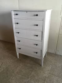 Refinished Gray chest of drawers