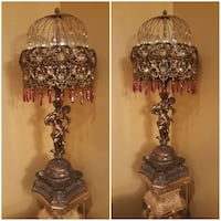 2 antique vintage lamps bronze lamps Fontana, 92336
