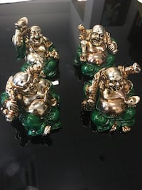 Small Gold and Green Buddha's Set if 4, package of 70 sets of 4 Hialeah, 33142