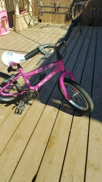 toddler's pink and white bicycle Saint-Eustache, J7R 5G3