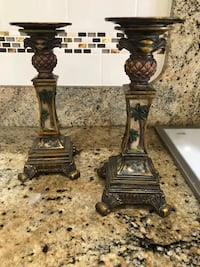 Candlestick holders - Palm tree themed