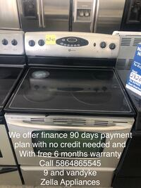 electric stove stainless steel Maytag with self cleaning Warren, 48089