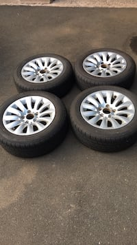 """16"""" bmw rims and 4 good tires Cheshire, 06410"""