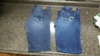 Ladies amer.eagle and guess jeans