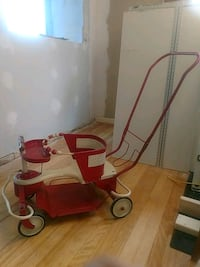 red and white Taylor Tot vintage stroller Saint Clair Shores