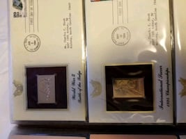 24k gold stamp collection