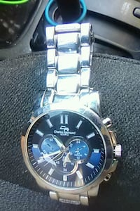 round silver chronograph watch with link bracelet Silver Spring, 20906