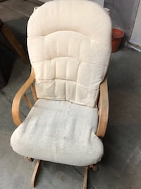 white and brown glider chair Cantley, J8V