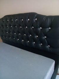 tufted black leather bed headboard Las Vegas, 89123