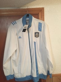 White and blue zip-up jacket Mississauga, L5L