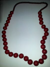 Large Red Beaded Necklace Winnipeg