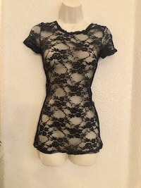 NWOT Sexy Agaci lace blouse. No Sz tag but fits Small or Medium