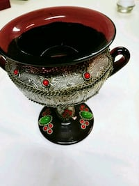 Black and red ceramic bowl .Antique Chalice  Lusby, 20657