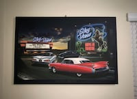 MODERN ICONIC POP HELEN FLINT PAINTING (WITH SWITCH UNDER WITH LIGHTS) Hialeah, 33016