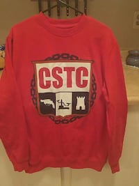 red CSTC print sweatshirt London, N5Y 4T9