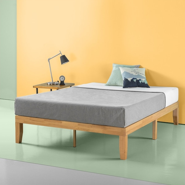 detailed look cd52e 7b609 Nw In Box! Zinus Moiz 14 Inch Deluxe Solid Wood Platform Bed Frame, King  Size