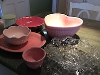 Sweetheart or Valentines pottery and dishes