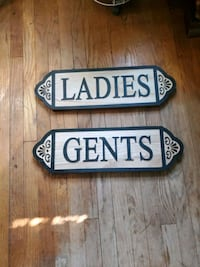 Signs for the bathroom