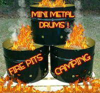 ⭐MINI METAL DRUMS FOR FIREPITS⭐CAMPING⭐   Goldsboro, 27530