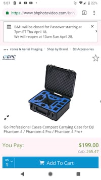 Drone Case -- DJI PHANTOM 4 HARD SHELL CASE SALE!
