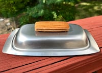 Lovely Vintage Mid Century Stainless Steel Butter Dish with Lid Falls Church, 22046