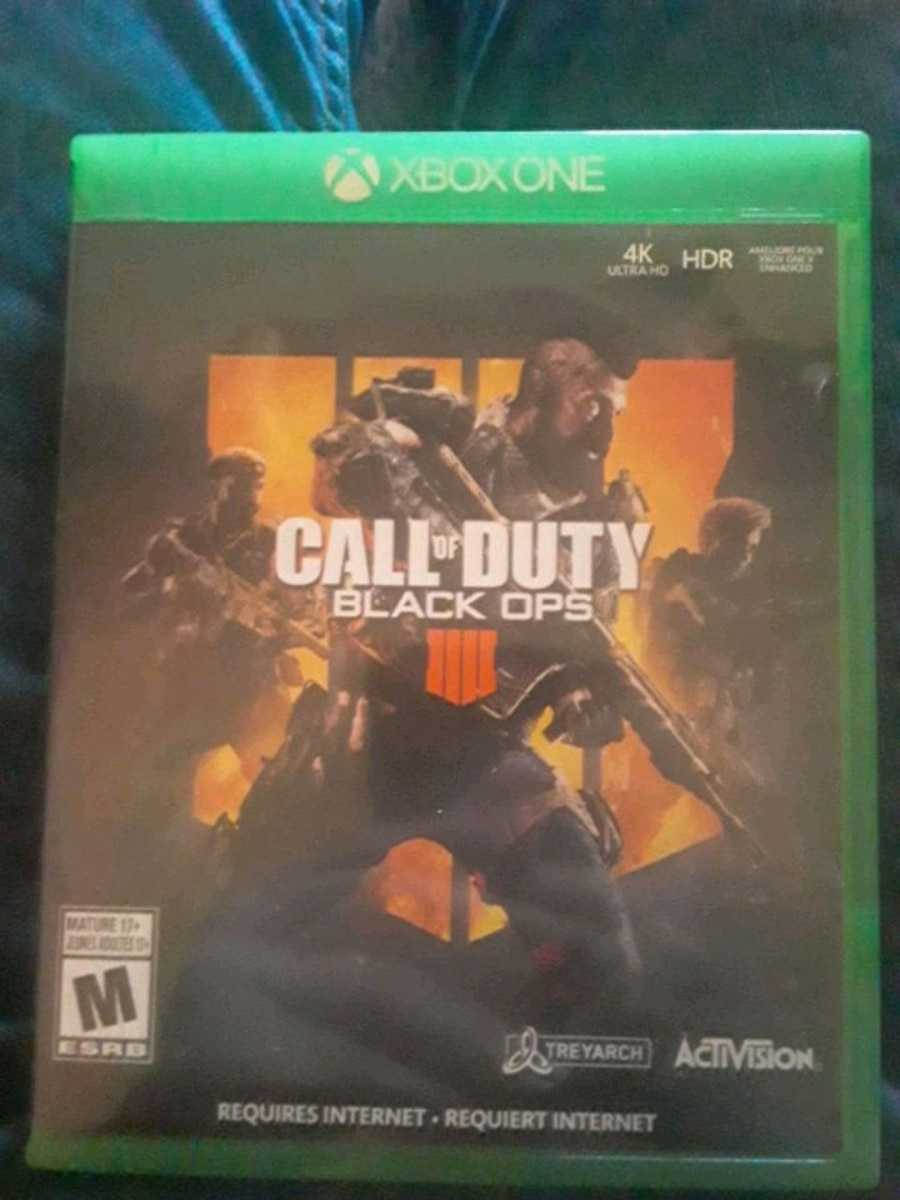 Photo Xbox one game call of duty 4