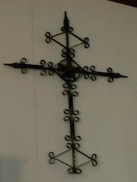 black metal cross with Texas star it's a big one