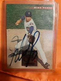autographed baseball player trading card Concord