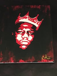 Biggie Smalls -Acrylic on canvas 16x20 Colón Art** price lowered  gas a 1 inch tear at bottom *** Oak Park, 60304
