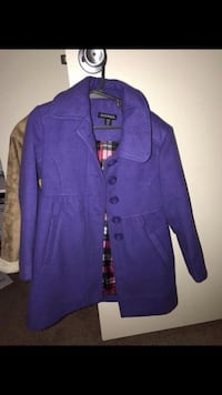 Purple Girls Pea Coat