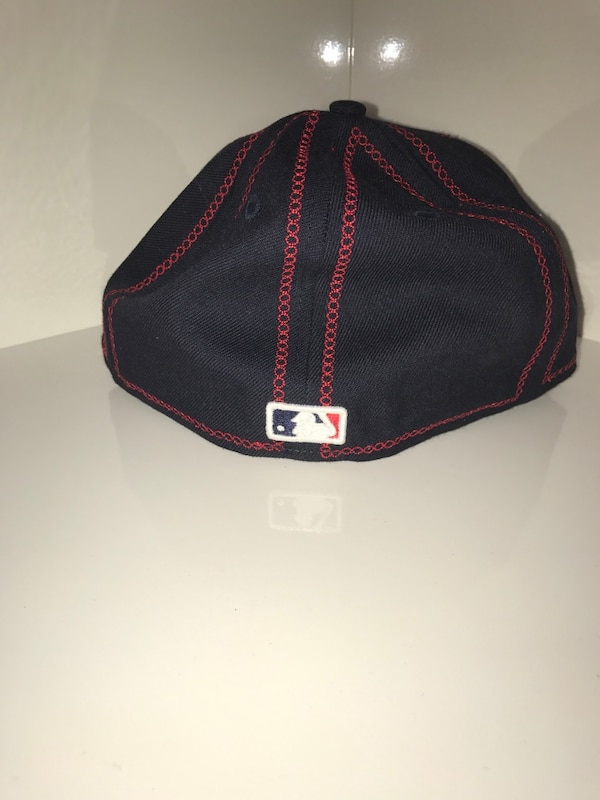 fc6c459c1b9c9 Used Navy blue with red stitching New Era Atlanta Braves Fitted cap ...