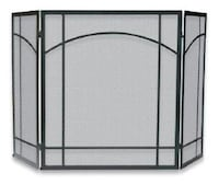 UniFlame S-1023 3 Fold Black Uniflame Wrought Iron Mission Screen Babylon, 11702