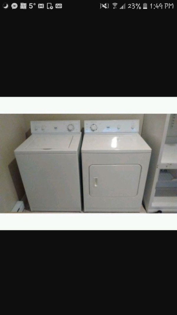 OBO..Washer and dryer bought@brick w/warrenty
