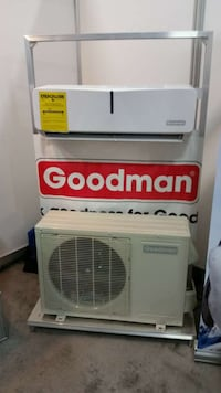 white Goodman air condenser unit Mascouche, J7K 0G9