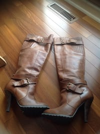 Aldo leather boots size 7, with rubber soles . Brossard, J4Y 2Z6