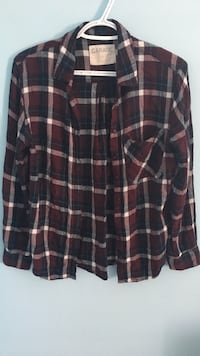 black and red plaid dress shirt Kirkland, H9H 3R7