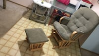 Black and gray high chair