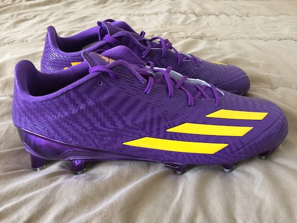 06bf7ff998e Adidas Adizero 5-Star 5.0 Low Football Cleats LSU Tigers Purple BB9009 Mens  Sz 11