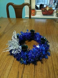 Blue star candle ring