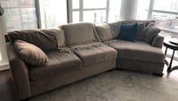Large taupe coloured plush couch Toronto, M6C 2K5