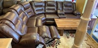 Espresso - gray leather sectional available reclining sectional recliner  Jacksonville, 32246
