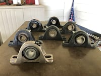"1"" Pillar block bearings 7 of them $50 Denton, 21629"