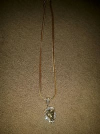 Gold plated necklace with lion pendant Peterborough