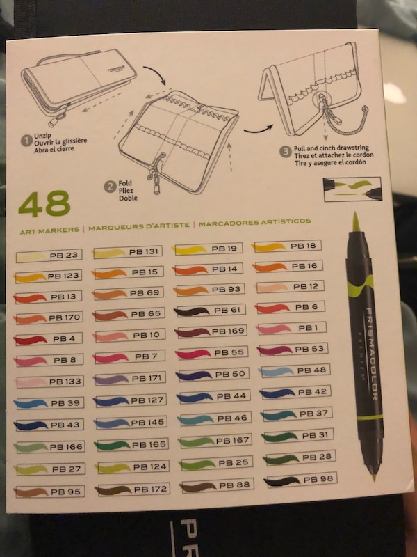 Prismacolor 48 count dbl ended markers