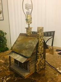 Rustic Handcrafted Log Cabin Vintage Table Lamp Home Decor  Spring Hill, 34608